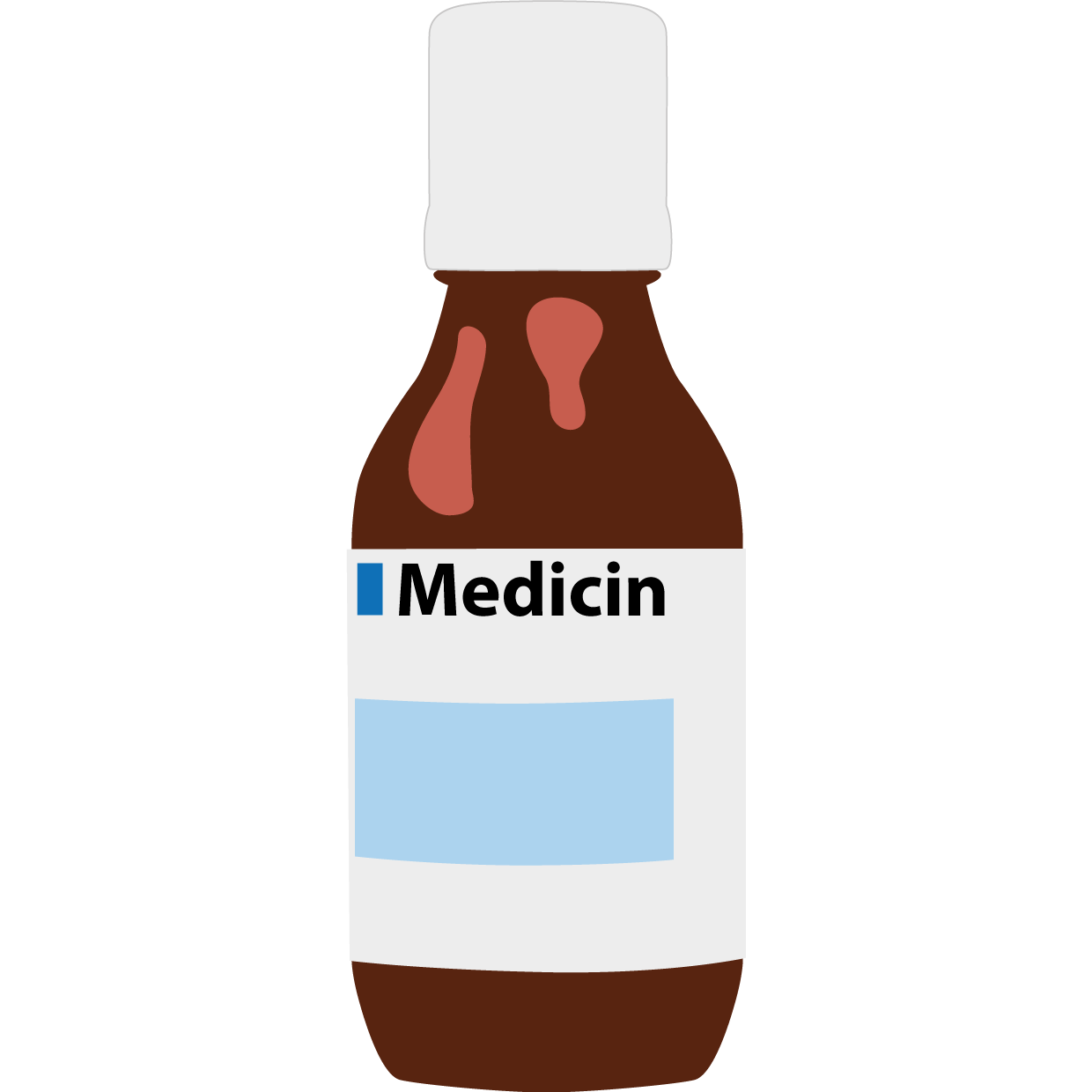 Medicinflaska. Illustration.